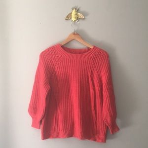 aerie Knit Bubble Sleeve Sweater